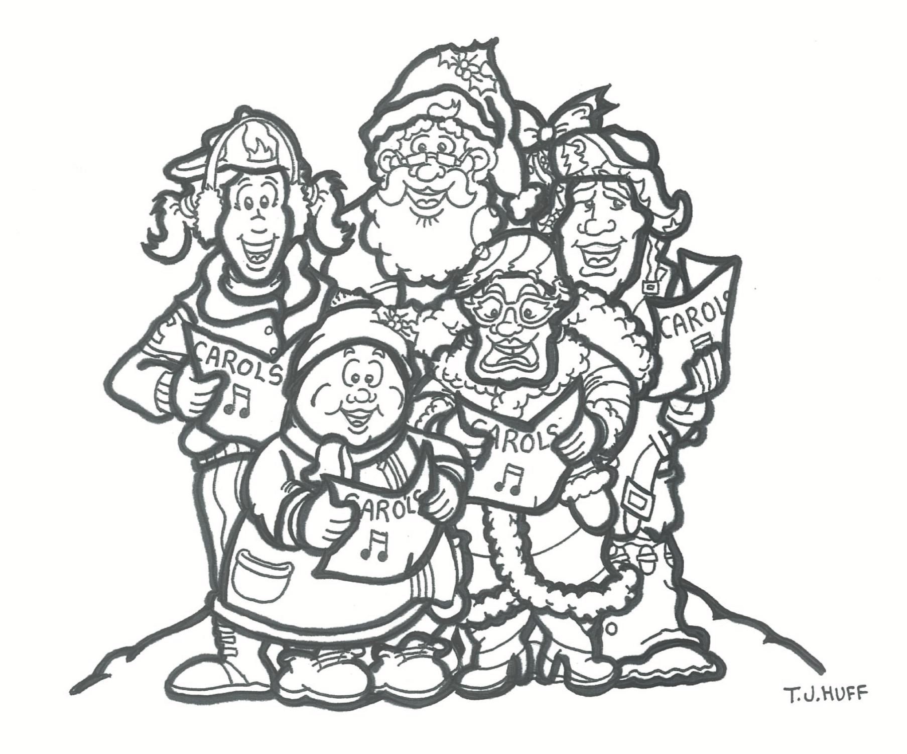 MAKE WAY FOR THE CHRISTMAS HUSH Colouring Pages