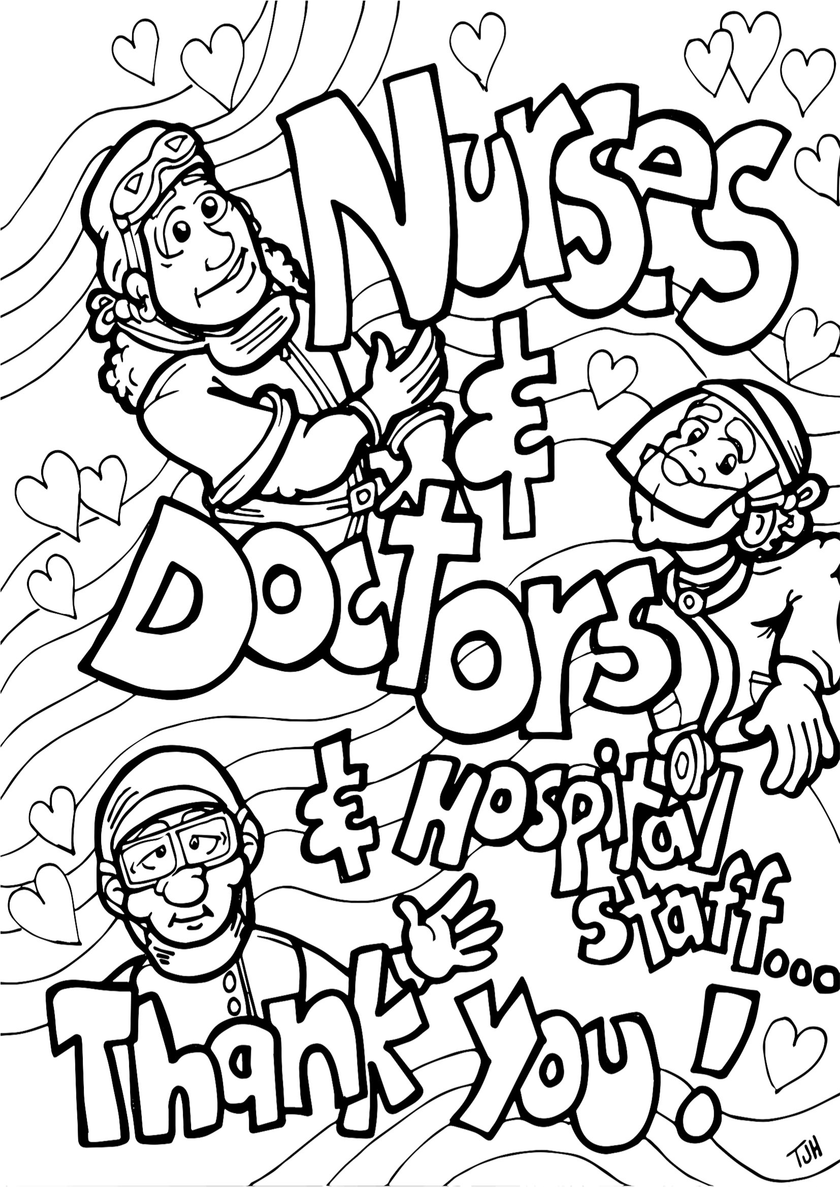 PANDEMIC COLOURING PAGES: I LOVE YOU & I MISS YOU, THANK YOU
