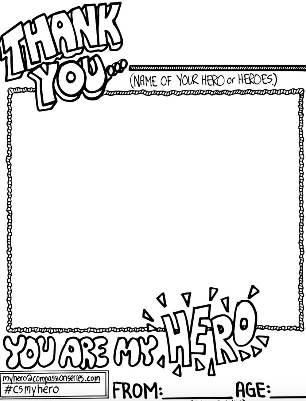 WHO'S YOUR HERO? Colouring Pages