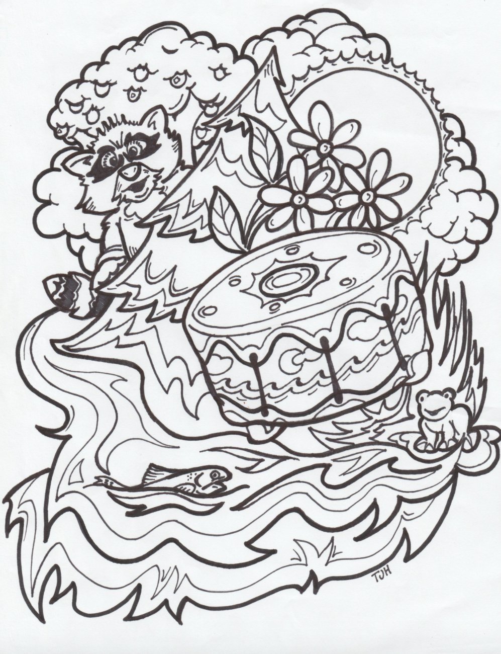 THE HONOUR DRUM Colouring Pages